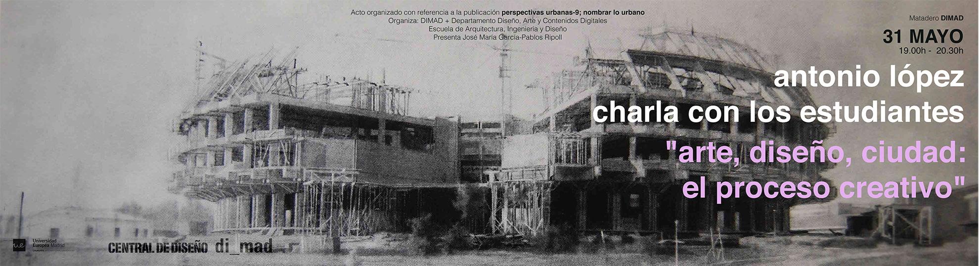 """""""Arte, diseño, ciudad: el proceso creativo"""""""