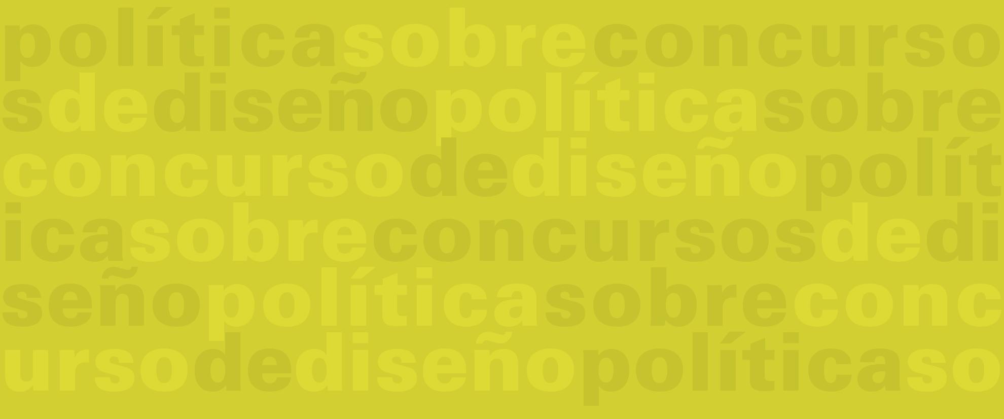 Política sobre concursos de diseño